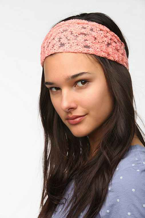 Embroidered Daisy Headwrap
