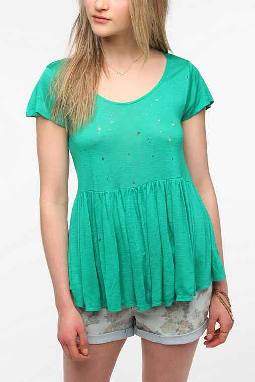 Daydreamer LA Cropped High/Low Babydoll Tee