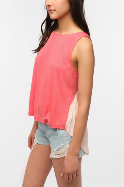 Sparkle & Fade Accordion-Back Tank Top