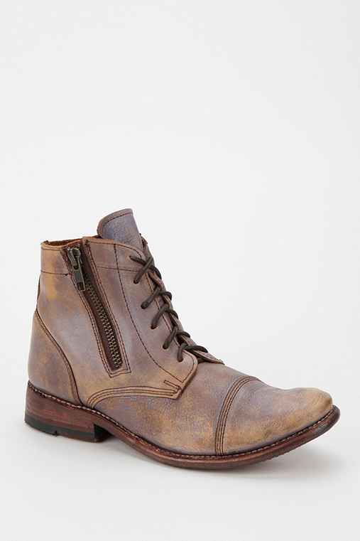 Bed Stu Weathered Leather Lace-Up Ankle Boot