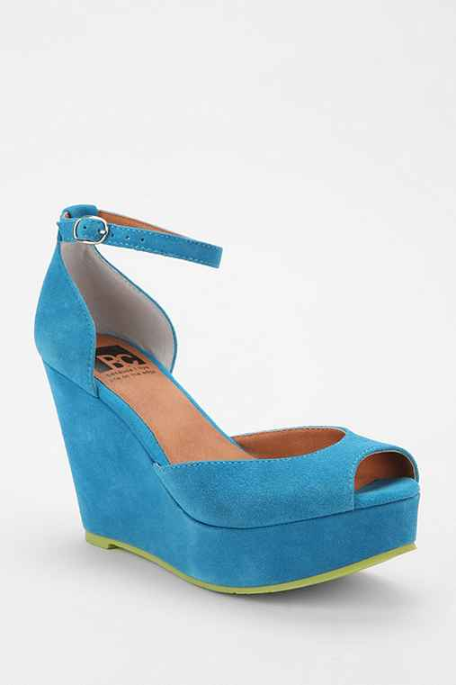 BC Footwear Bright Idea Peep-Toe Platform Wedge