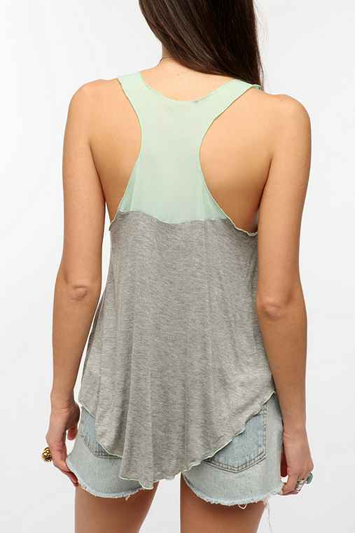 Daydreamer LA Colorblock Racerback Tank Top