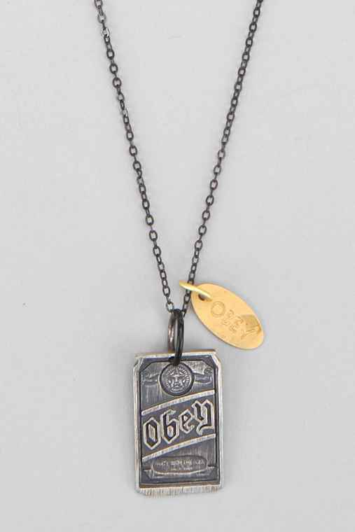 OBEY Beer Can Necklace