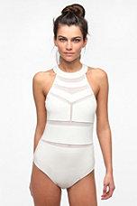 Sparkle & Fade Mesh Block Bodysuit