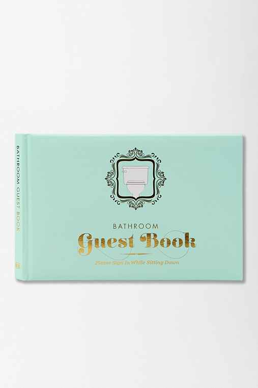 Bathroom guest book by knock knock urban outfitters for Bathroom guest book