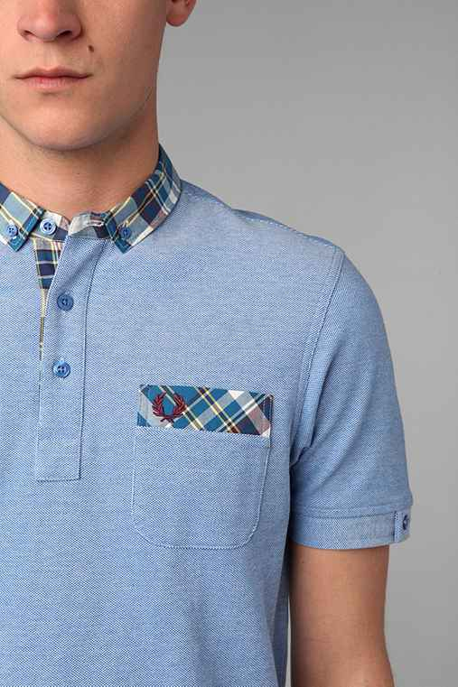 Fred Perry Madras Collar Polo Shirt
