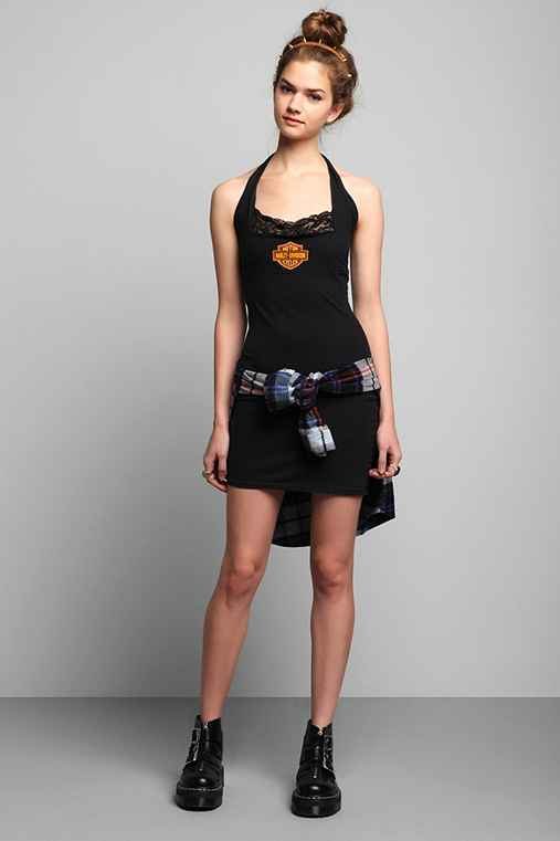 Vintage '80s Harley-Davidson Bodycon Dress