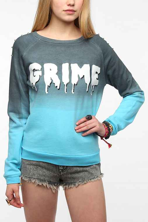 Sparkle & Fade Grime Studded Pullover Sweatshirt