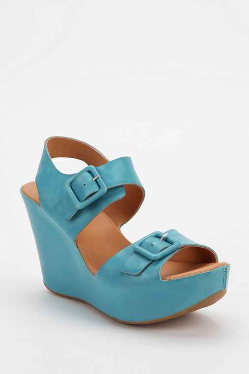 Kork-Ease Susie Leather Platform Wedge Sandal