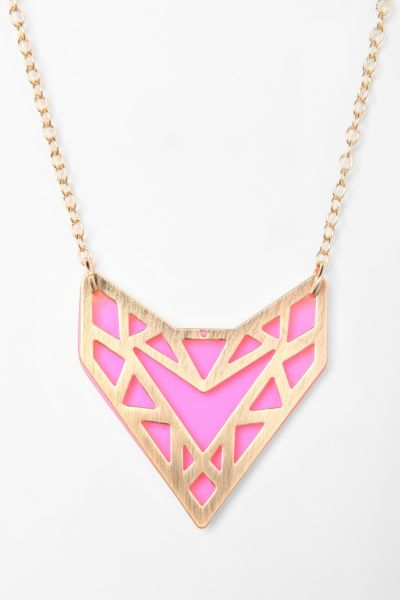 Neon Geo Acrylic Necklace