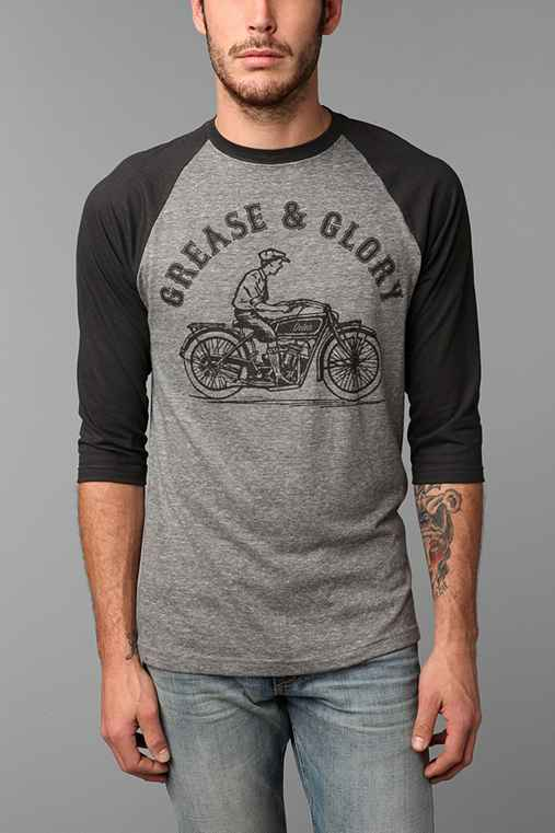 Deter Grease And Glory Raglan Tee