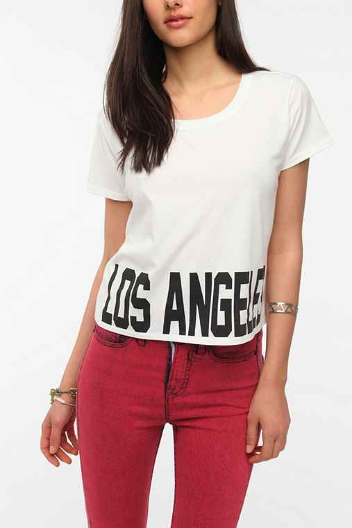 Workshop Bold Text Destination Cropped Tee