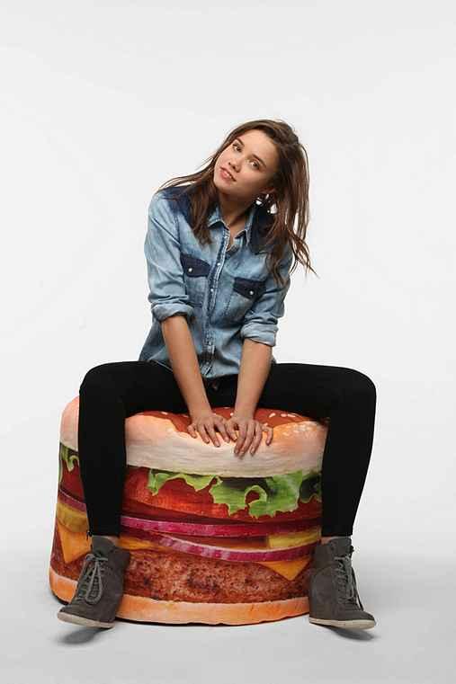 Hamburger Bean Bag Urban Outfitters