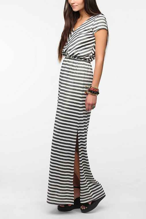 Pins And Needles Striped Knit Maxi Dress