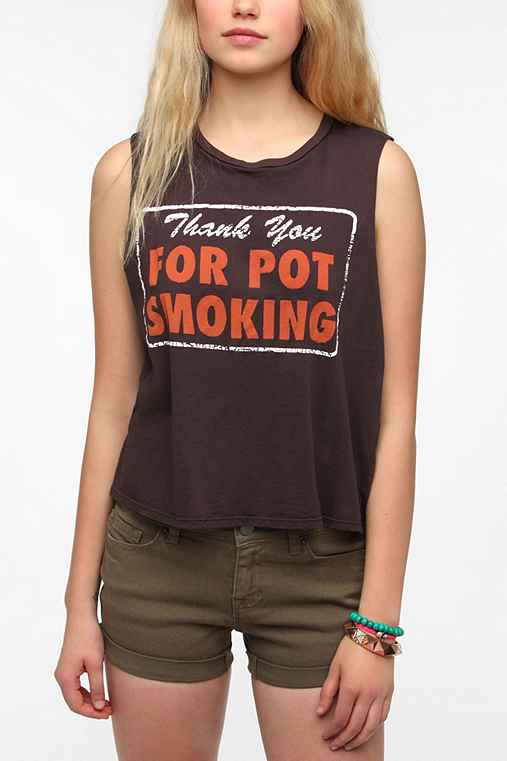 Le Shirt Thank You For Smoking Muscle Tee