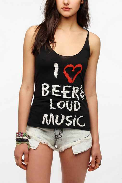 Le Shirt I Heart Beers Tank Top