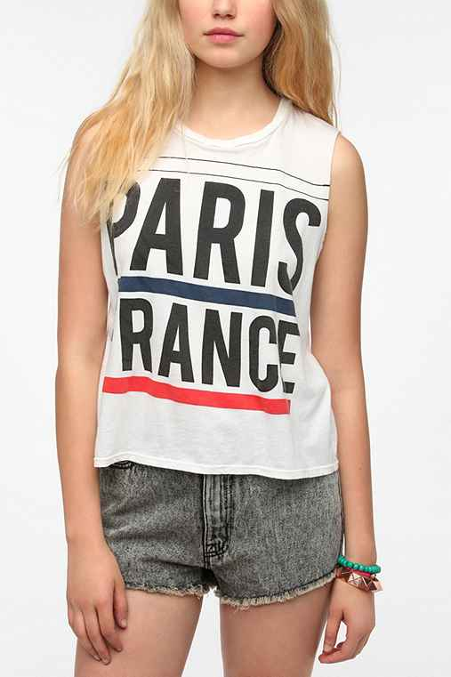 Le Shirt Paris France Muscle Tee