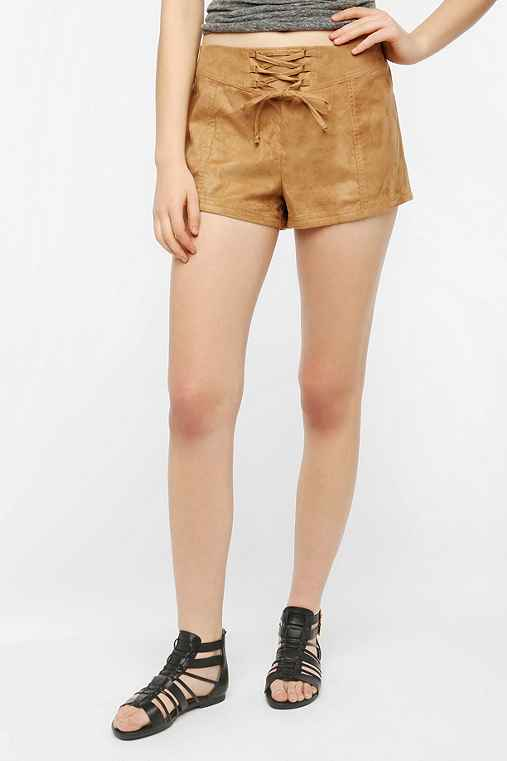 Ecote Alizah Faux Suede Lace-Up Short