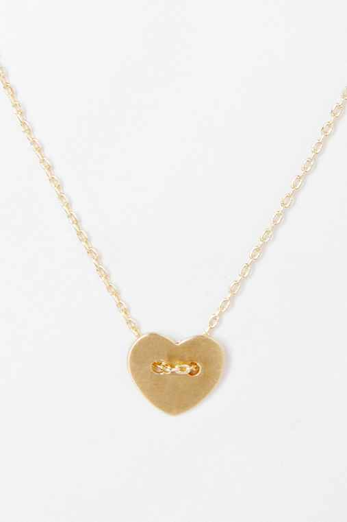 Buttoned Heart Necklace