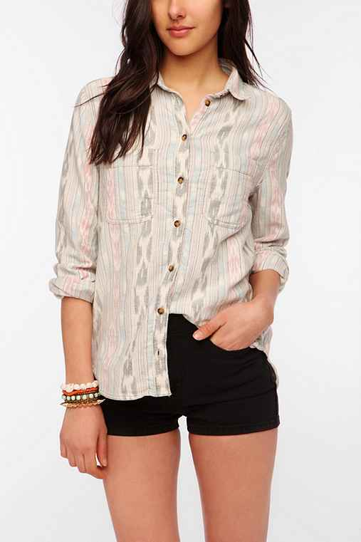 BDG Ikat Button-Down Shirt