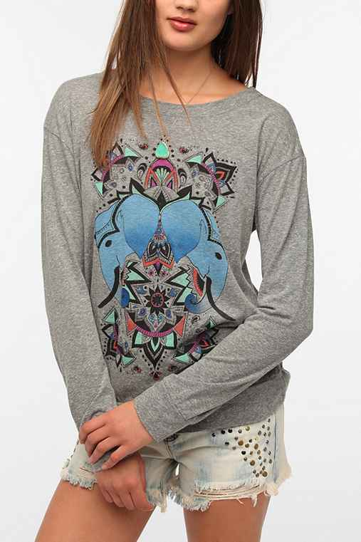 Title Unknown Pachyderm Pair Long-Sleeve Tee