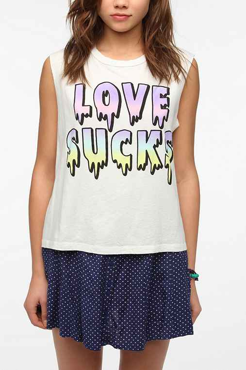 Truly Madly Deeply Love Sucks Muscle Tee