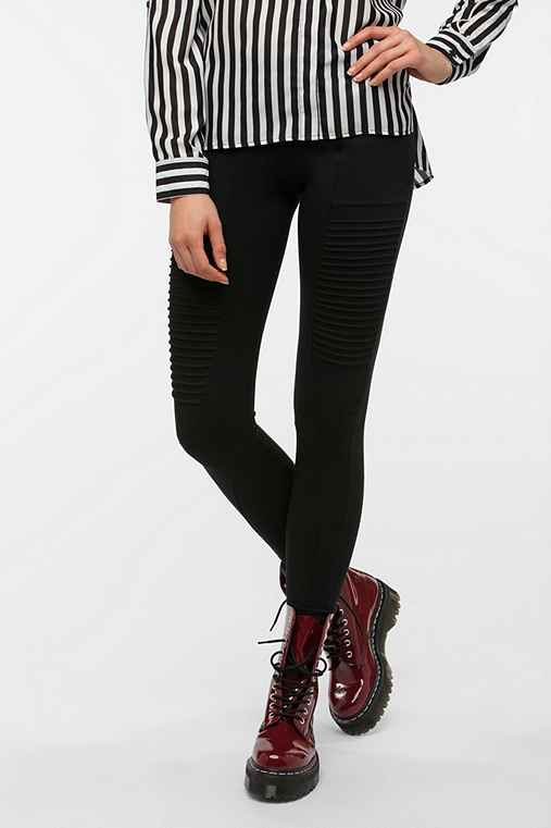 Out From Under Ponte Moto Seamed Legging