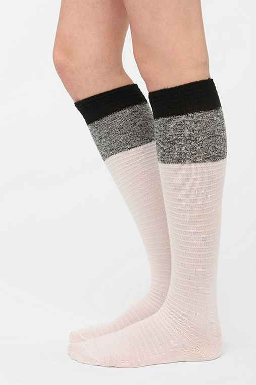 Textured Block Knee-High Sock