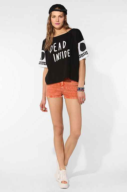 Lazy Oaf Dead Inside Cropped Tee