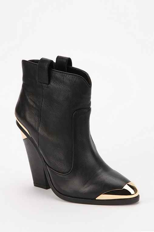 Dolce Vita Kitt Armor Accent Leather Ankle Boot