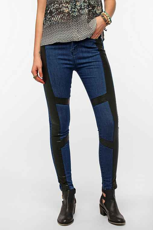 BDG Seamed Twig High-Rise Jean - Vegan Leather Inset