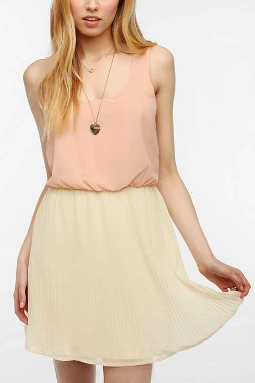 Pins And Needles Chiffon Pleated Skirt Dress