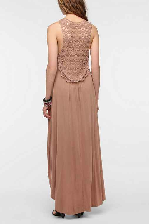 Fraiche By J Crochet Back Maxi