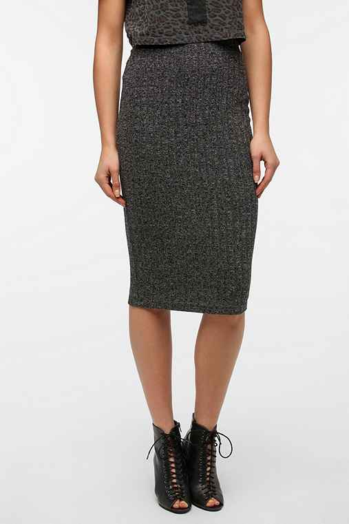 Sparkle & Fade Sweater Knit Hobble Skirt
