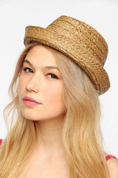 Hat Attack Straw Porkpie Hat