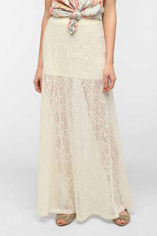 Pin And Needles Lace A-Line Maxi Skirt