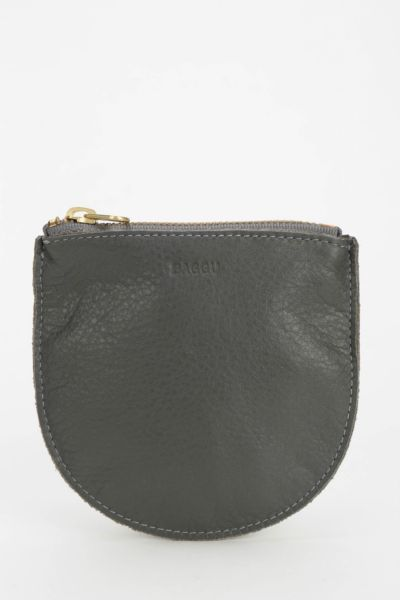 BAGGU Small Leather Zip-Pouch