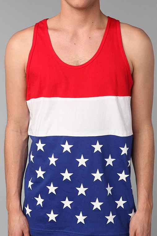 Stars And Stripes Colorblock Tank Top