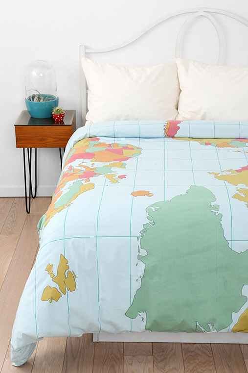 Map Duvet Cover Urban Outfitters