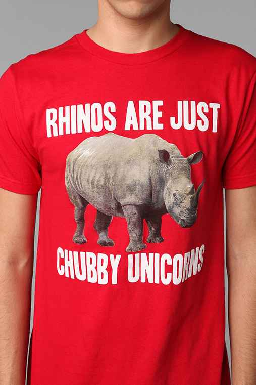 Rhinos Are Chubby Unicorns Tee