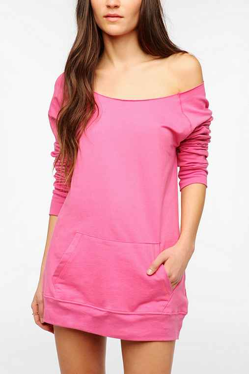 Off-The-Shoulder Tunic Sweatshirt