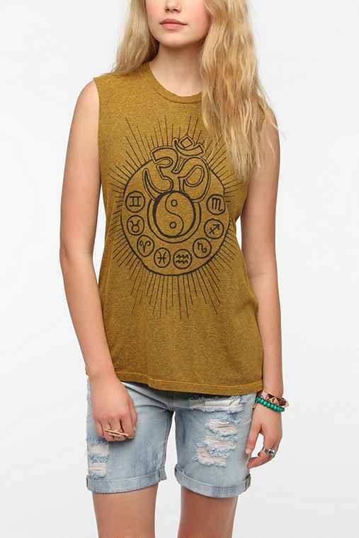 Truly Madly Deeply Om Zodiac Muscle Tee