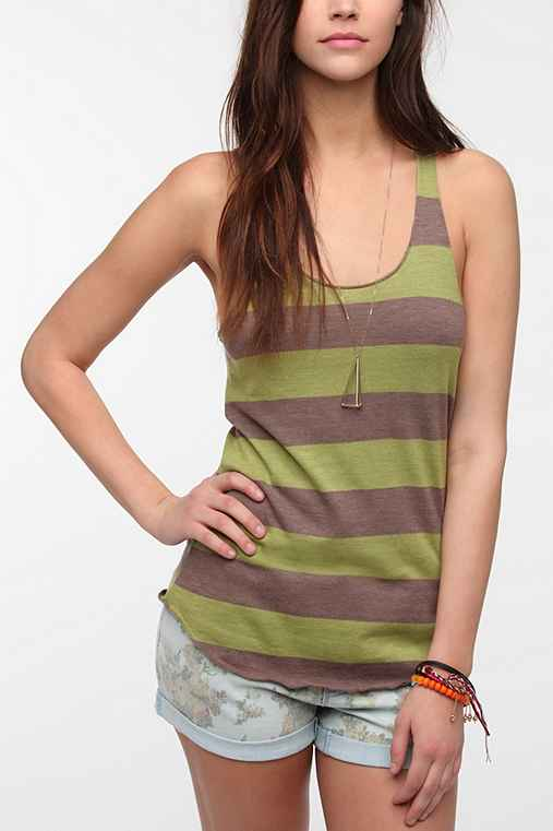 Alternative Meegs Stripe Racer Tank Top