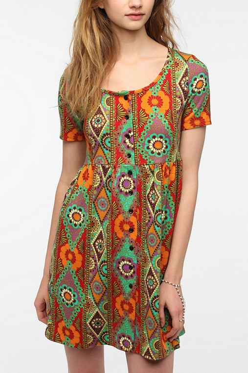 Urban Renewal Short-Sleeved Babydoll Dress