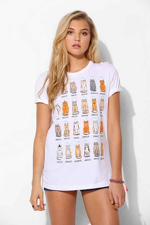 Gemma correll cats of the world tee urban outfitters for Lucky cat shirt urban outfitters
