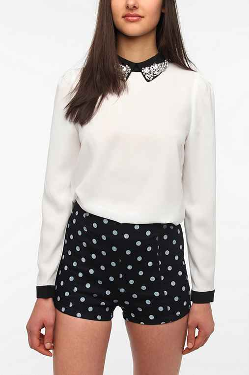 Sister Jane Crystal Collar Blouse