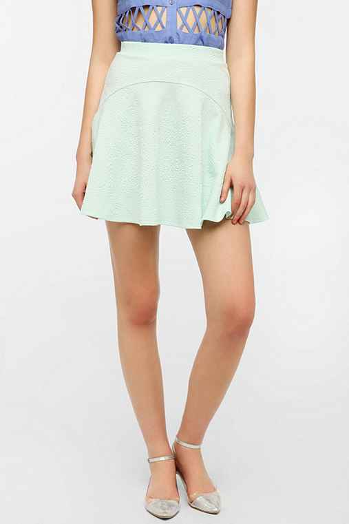 Sparkle & Fade Embossed Scuba Circle Skirt