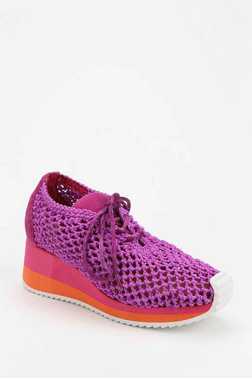 Jeffrey Campbell Kersee Woven Wedge Running Sneaker
