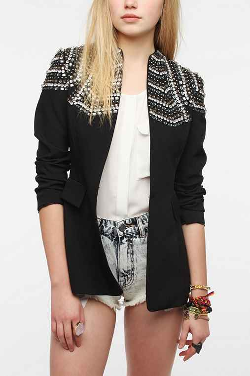 Sister Jane Crystal Shoulder Blazer