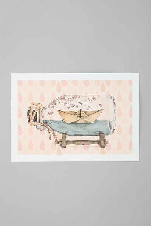Gabriella Barouch For Society6 Sail Away Art Print